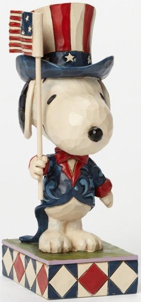 Jim Shore Peanuts 4043617 Patriotic Snoopy