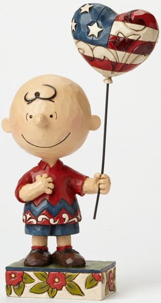 Jim Shore Peanuts 4043618 Patriotic Charlie Brown