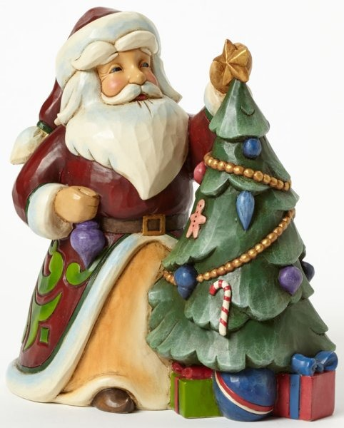 Jim Shore 4044069 Santa Decorating Tr Figurine