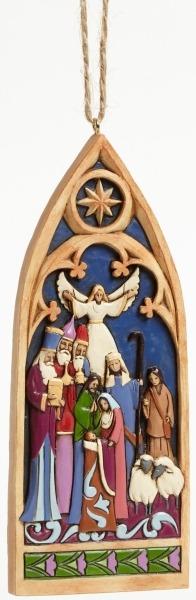 Jim Shore 4044106 Cathedral Window Na Ornament