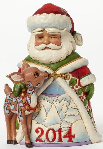 Jim Shore 4044513 Dated 2014 Santa wi Figurine