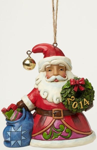 Jim Shore 4044562 Hanging Ornament Dated Santa Wre