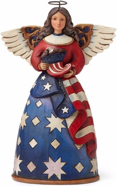 Jim Shore 4044664 Patriotic Angel Fla Figurine