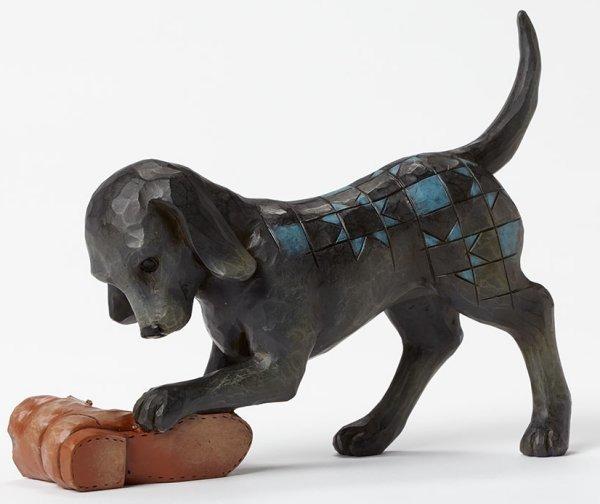 Jim Shore 4045272 Dog w Shoe Figurine