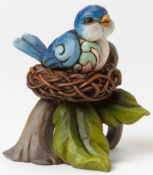 Jim Shore 4045274 Bluebird in Nest Mi Figurine