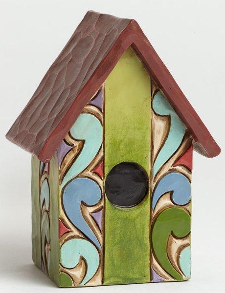 Jim Shore 4045275 Birdhouse Mini Figurine