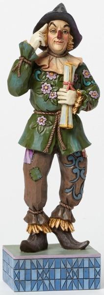 Jim Shore Wizard of Oz 4045418 Scarecrow with Diploma
