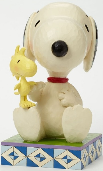 Peanuts by Jim Shore 4045873 Big Figurine Snoopy with wood