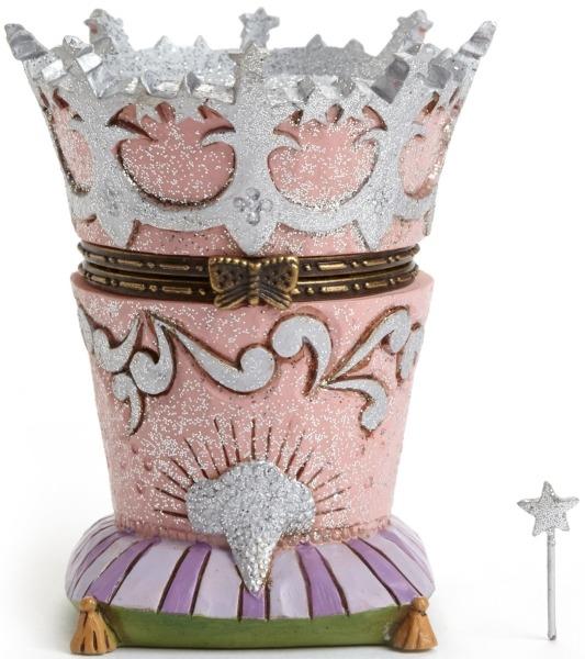 Jim Shore Wizard of Oz 4046419 Glinda Crown Treasure Bo