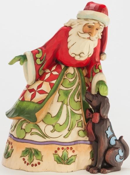 Jim Shore 4046760 Santa Puppy Figurine