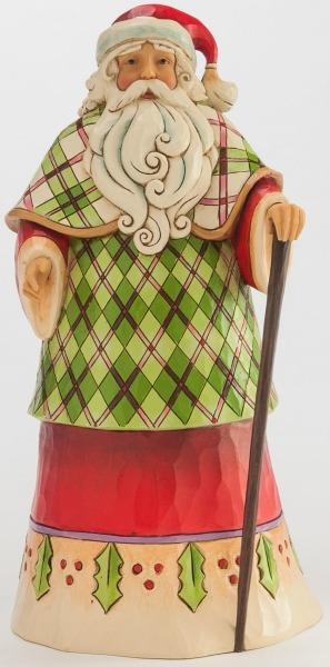 Jim Shore 4046763 Plaid Santa Figurine