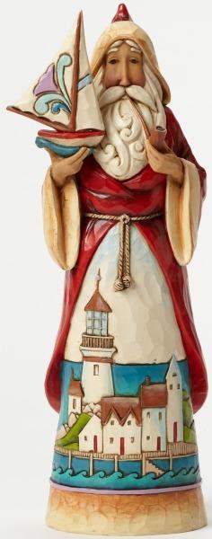 Jim Shore 4046764 Santa Sailboat Figurine