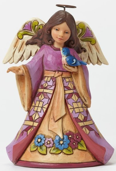 Jim Shore 4047059 Pint Angel w Bluebi Figurine