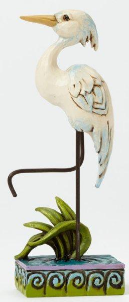 Jim Shore 4047069 White Heron Mini Figurine