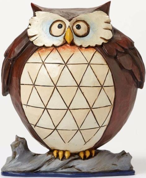 Jim Shore 4047077Q Pint Lazy Owl Figurine