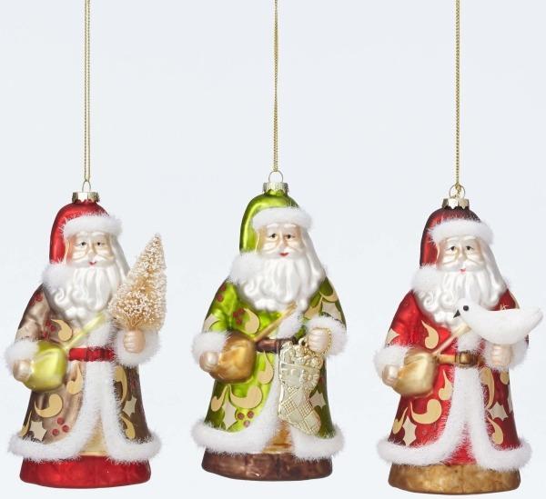 Jim Shore 4047686 3 Assorted Victorian San Ornament