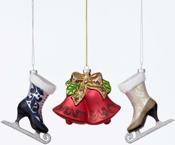 Jim Shore 4047687 3 Assorted Victorian Bel Ornament