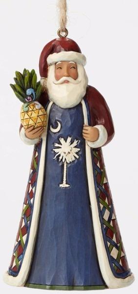 Jim Shore 4047762 South Carolina Santa Ornament