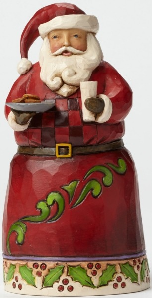 Jim Shore 4047774 Pint Santa w Cookie Figurine