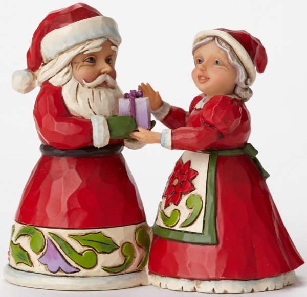 Jim Shore 4047778 Santa and Mrs.Claus Figurine