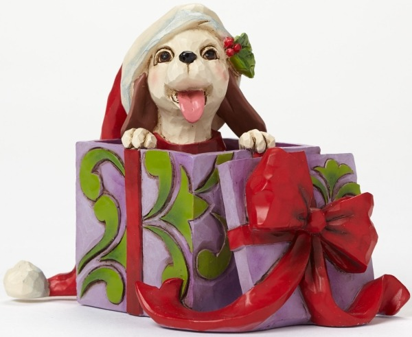 Jim Shore 4047781 Christmas Dog Mini Figurine