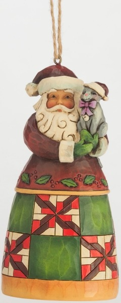 Jim Shore 4047785 Santa Cat Ornament