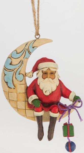 Jim Shore 4047786 Crescent Moon Santa Ornament