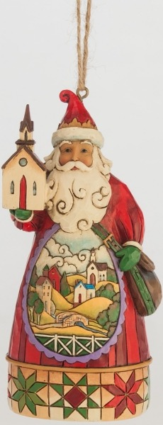 Jim Shore 4047788 Church Scene Santa Ornament