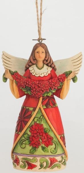 Jim Shore 4047795 Poinsettia Angel Ornament