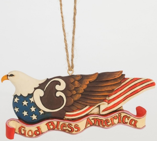 Jim Shore 4047800 Red White and Blue Ornament