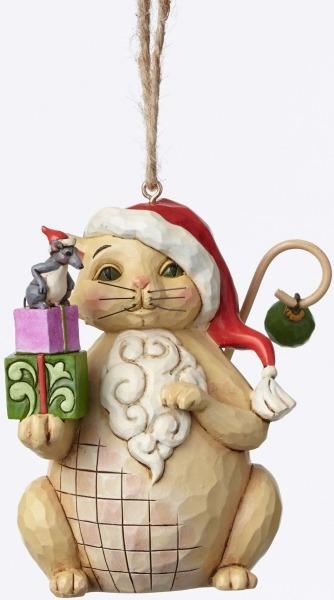 Jim Shore 4047801 Christmas Cat Ornament