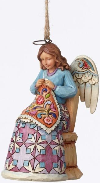 Jim Shore 4047805 Sewing Angel Ornament