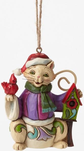 Jim Shore 4047810 Christmas Cat Mini Ornament