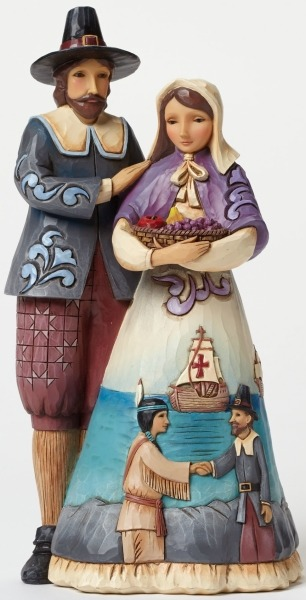Jim Shore 4047826 Pilgrim Couple Figurine