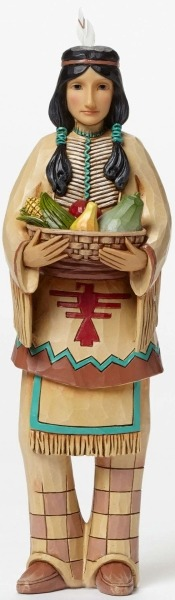 Jim Shore 4047827 Harvest Indian Figurine