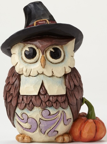 Jim Shore 4047832 Pilgrim Owl Mini Figurine