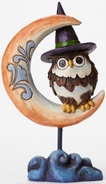 Jim Shore 4047841 Pint Owl on Crescen Figurine