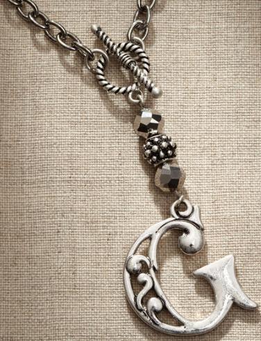 Jim Shore Fashion 4047966 JS Necklace Monogram Letter G