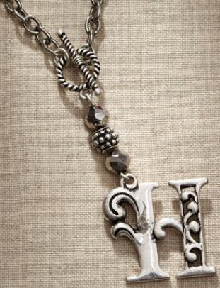 Jim Shore Fashion 4047967 JS Necklace Monogram Letter H