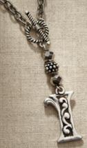 Jim Shore Fashion 4047968 JS Necklace Monogram Letter I