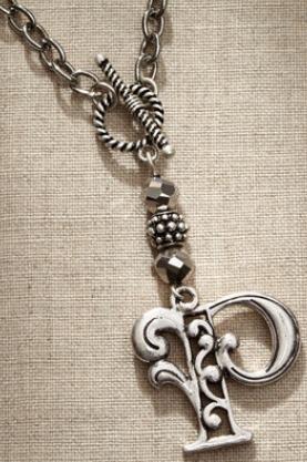 Jim Shore Fashion 4047975 JS Necklace Monogram Letter P