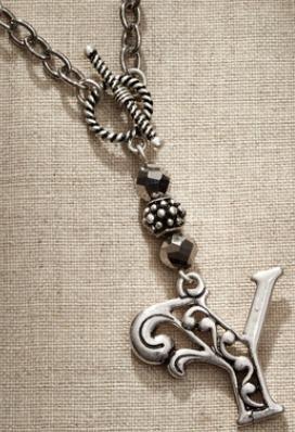 Jim Shore Fashion 4047982 JS Necklace Monogram Letter Y