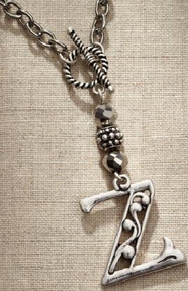 Jim Shore Fashion 4047983 JS Necklace Monogram Letter Z