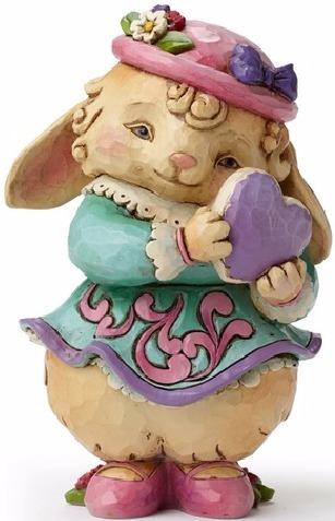 Jim Shore 4048810 Love Bunny w Heart Figurine
