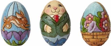 Jim Shore 4048976 Set 3 Character Egg Figurine