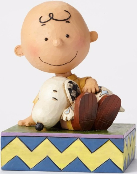 Jim Shore Peanuts 4049397 Charlie Brown With Snoopy
