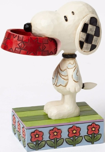 Peanuts by Jim Shore 4049411 Snoopy With Dog Dish