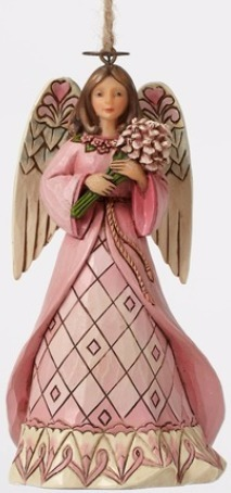 Jim Shore 4049413 Breast Cancer Angel Ornament