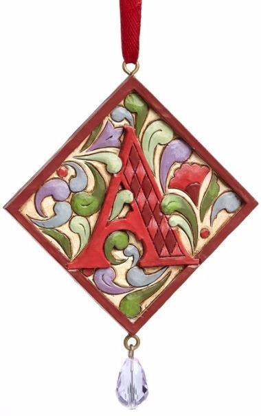 Jim Shore 4049423A Monogram A Ornament