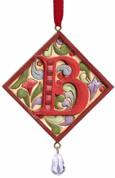 Jim Shore 4049423B Monogram B Ornament